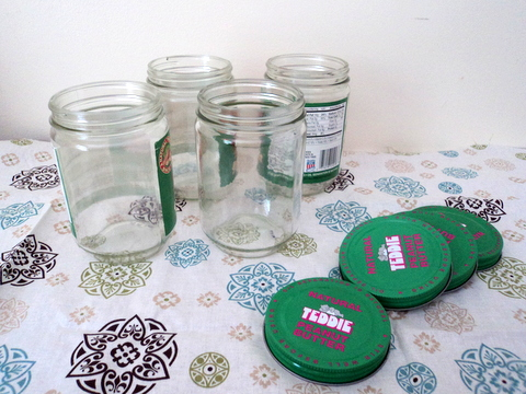 How to Upcycle Peanut Butter Jars