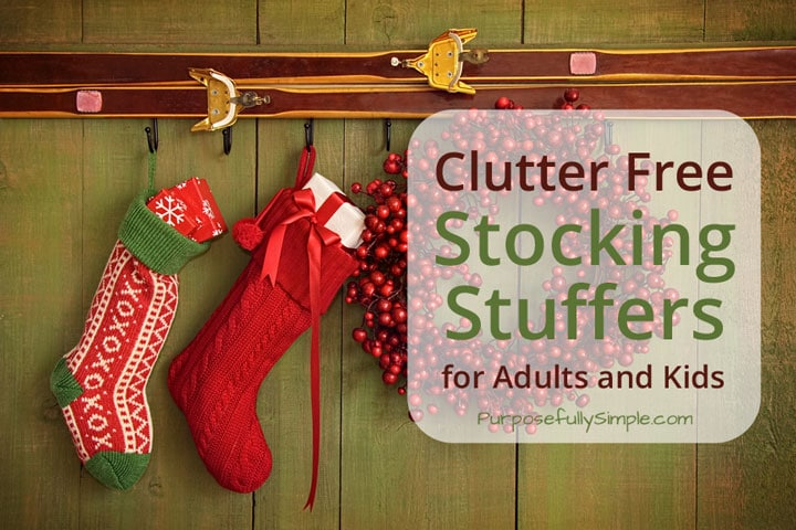 Clutter Free Stocking Stuffers For Adults And Kids