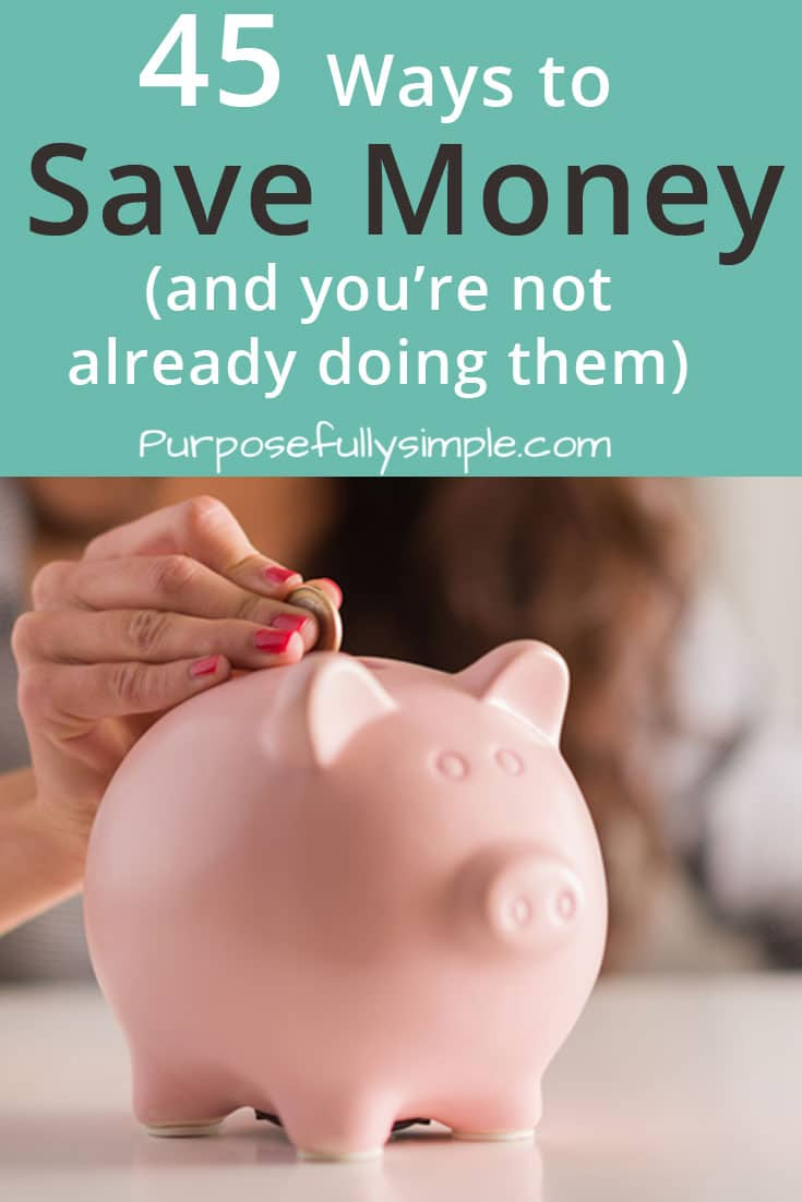 Discover some NEW ways to save money that you haven't thought of yet and begin putting away cash towards your financial dreams. #savemoney