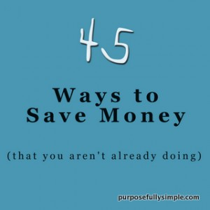 45 ways to save