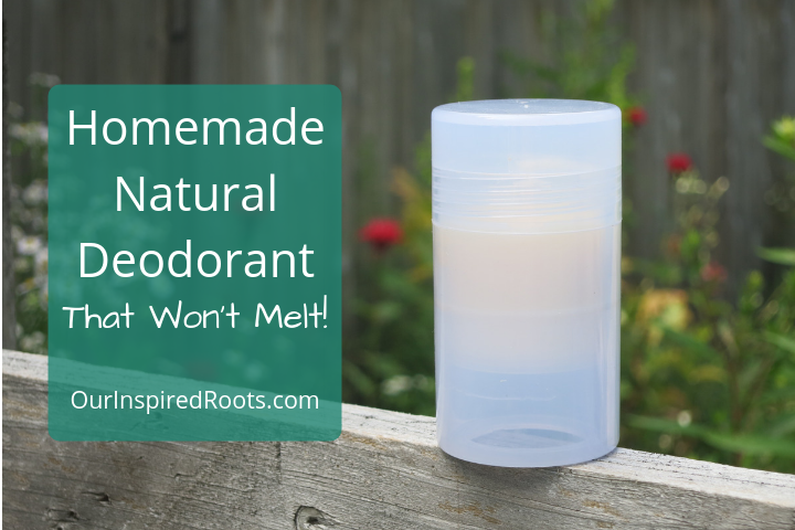 Homemade Natural Deodorant Recipe That Won't Melt