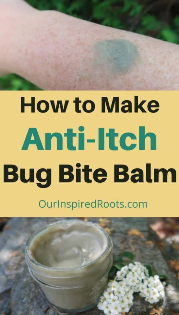 bug bite balm on arm, bug bite balm in jar