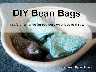 DIY Bean Bags: Great for Toddlers Who Throw Things