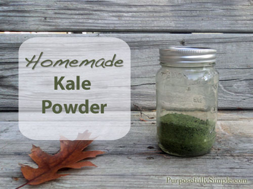 Homemade Kale Powder