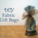 Easy DIY Gift Bag Tutorial: Fabric Gift Bag