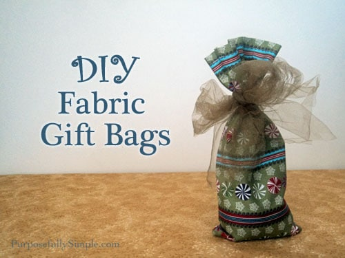 Easy DIY Gift Bag Tutorial: Fabric Gift Bag