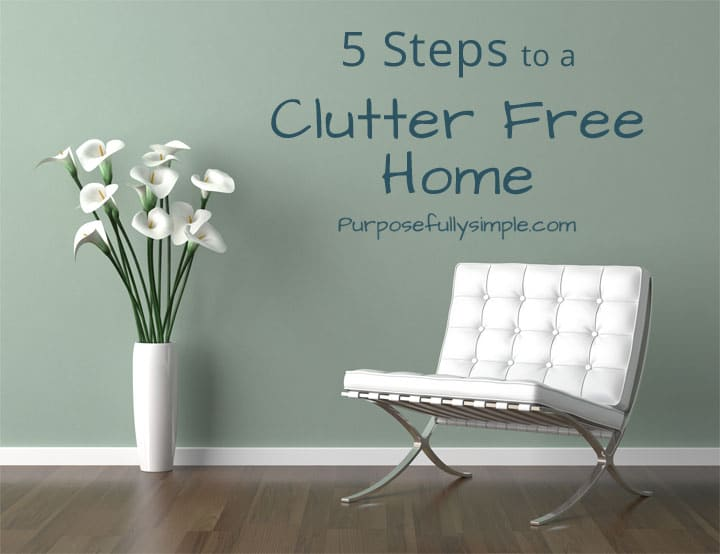 Declutter Your Home: 5 Steps to a Clutter Free Home