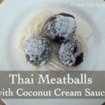 Thai Meatballs with Coconut Cream Sauce