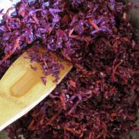 Homemade Sauerkraut: Purple Cabbage and Carrot