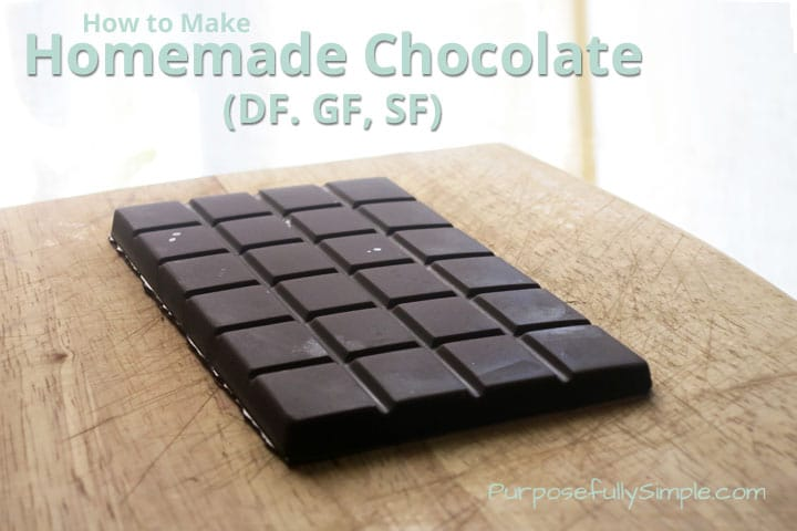How to Make Homemade Chocolate (DF, GF, SF)