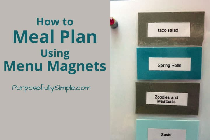 How to Meal Plan Using Menu Magnets