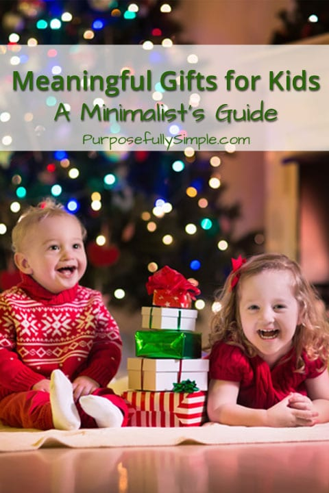 It can be hard to find meaningful gifts for kids, especially when you're trying to reduce clutter in your home. Find out how I do it in this post.