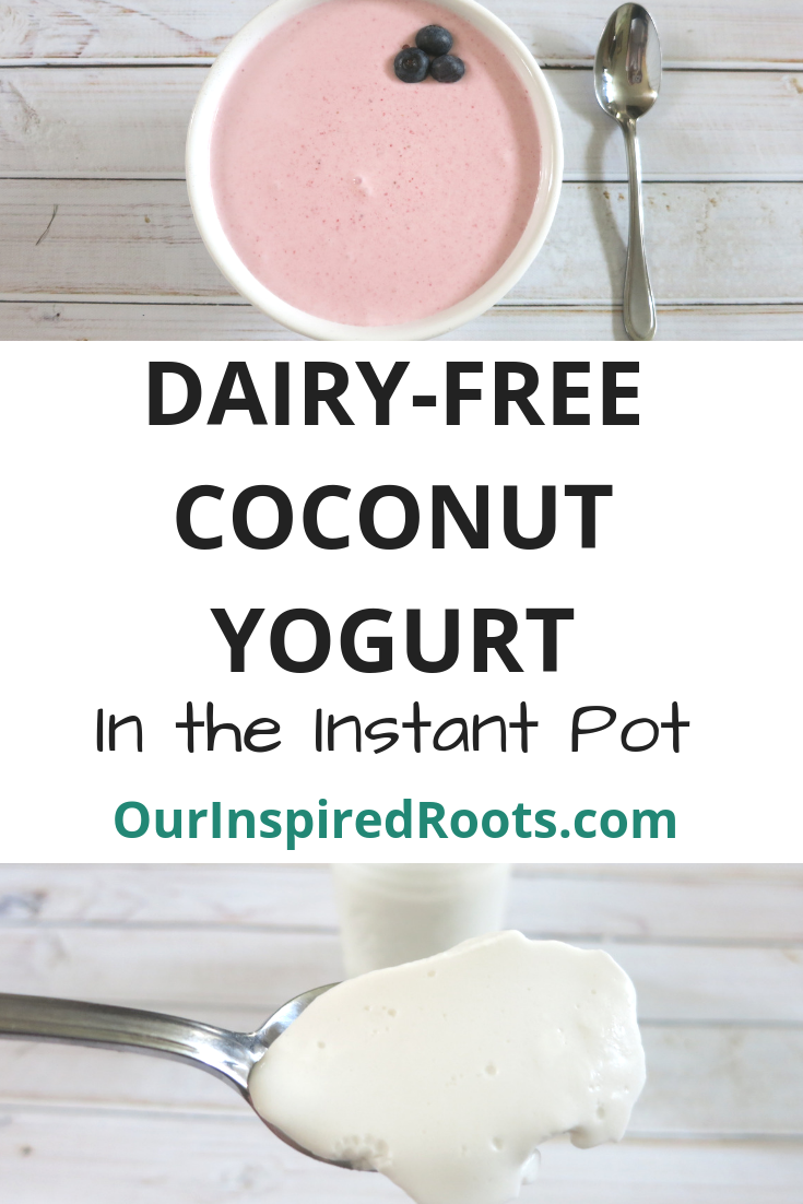 Looking for a Coconut Yogurt Recipe? Here is an easy and nutritious recipe you can make in an instant pot or just on your kitchen counter. #coconutyogurt #dairyfreeyogurt