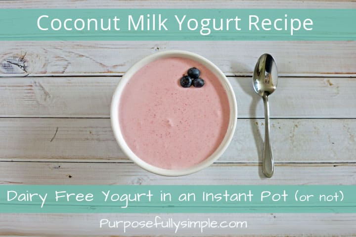 Looking for a Coconut Yogurt Recipe? Here is an easy and nutritious recipe you can make in an instant pot or just on your kitchen counter.