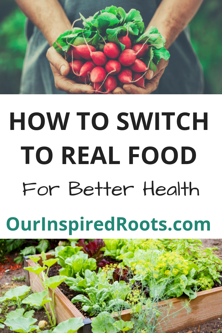 We eat real food for many health reasons. Want to eat real food but don't know how? Check out these tips for getting started. #realfood