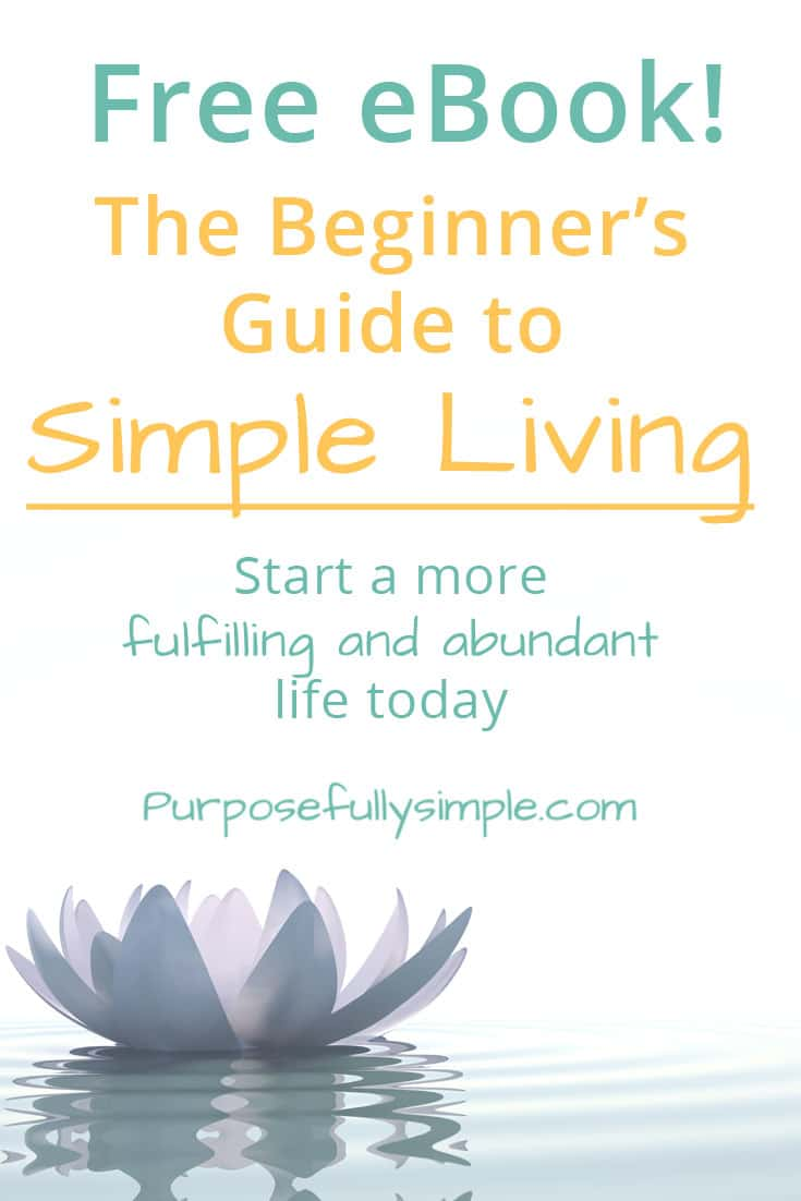 Grab this free eBook and learn how to begin your simple living journey today. Leave behind the rat race and join the movement of simple living. #simpleliving