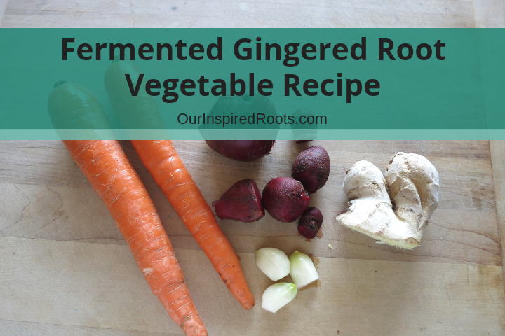 Lacto-Fermented Gingered Root Vegetables