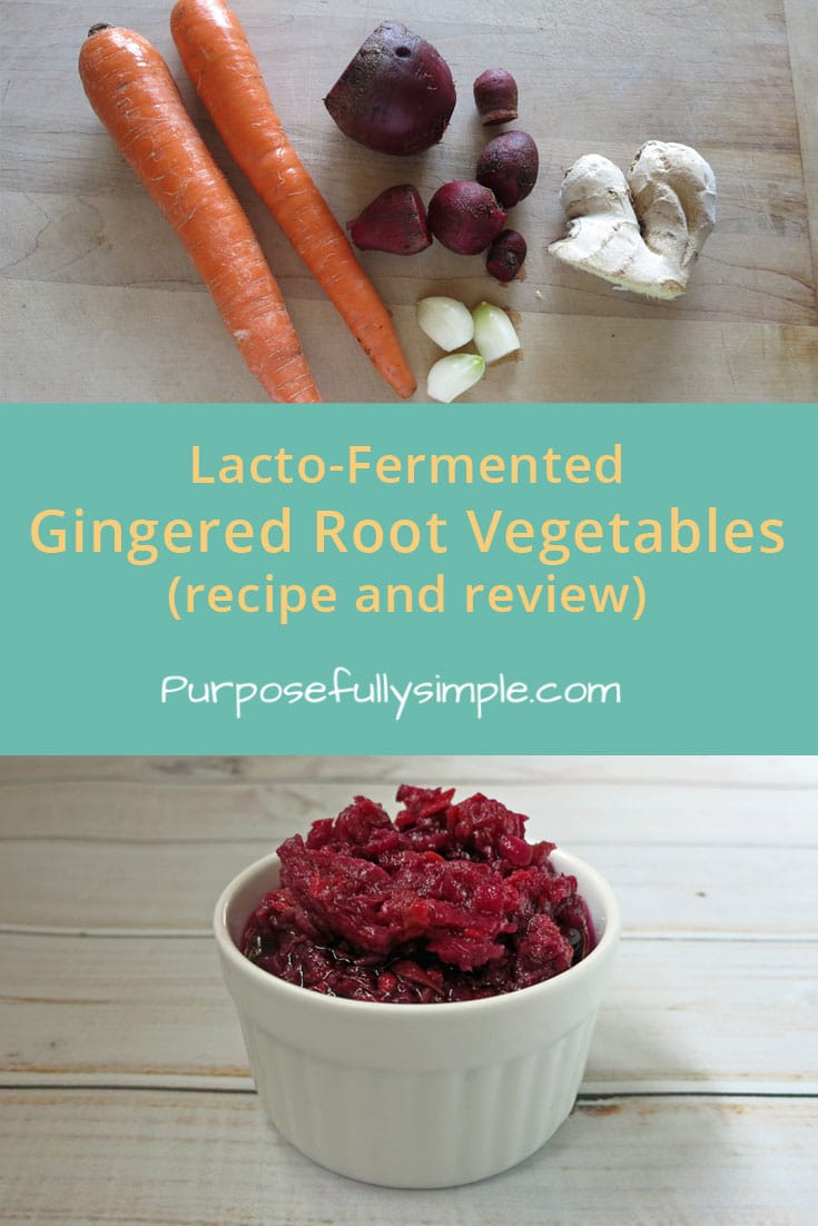 Looking for a fermented gingered root vegetables recipe that is tasty and loaded with healthy probiotics? Here it is! Great as a side dish or on it's own. #fermentedfood