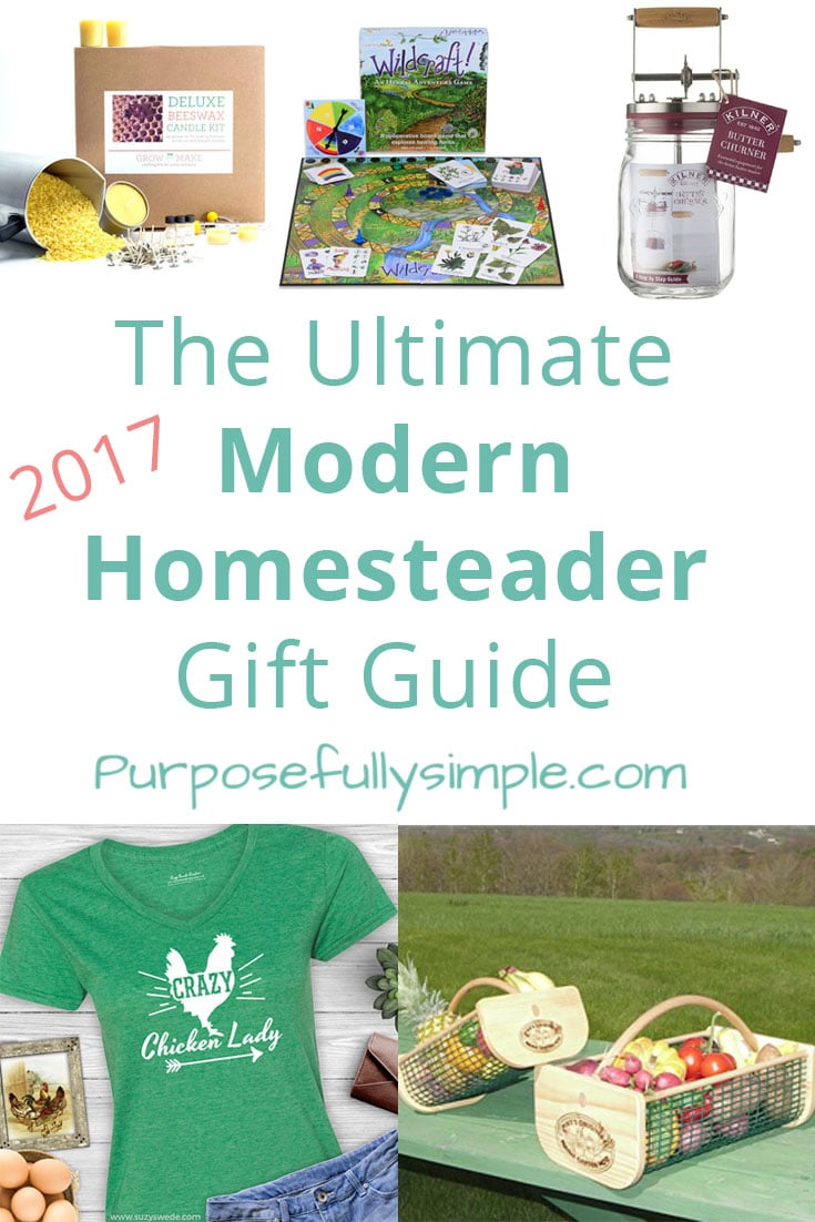Looking for gifts for your homesteader buds? This homesteader gift guide has fun and NEW ideas for everyone on your list this year. #christmas2017 #giftguide