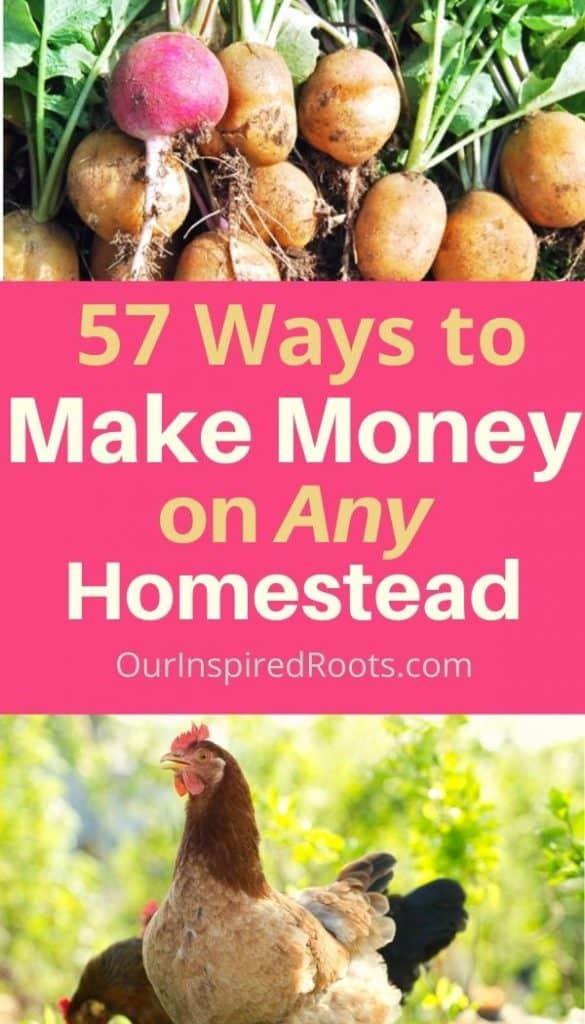 make money homesteading cash, eggs, and vegetables