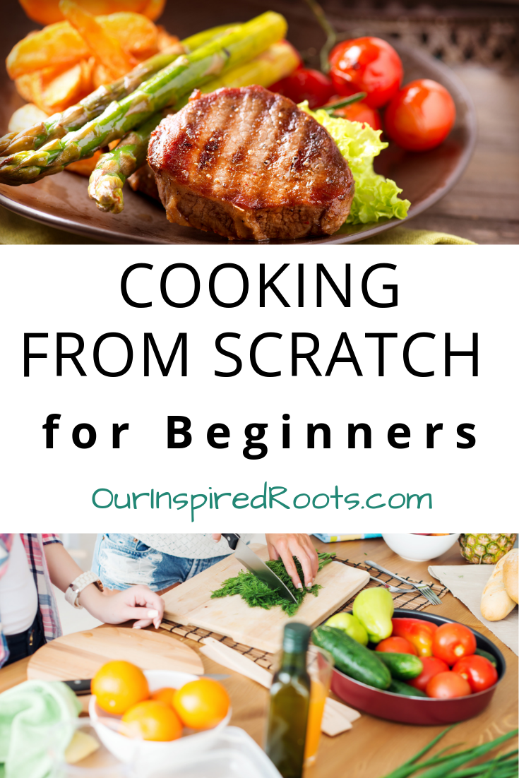 This cooking from scratch for beginners guide has tips and tricks for beginning a real food/from scratch lifestyle. If you're just starting out, read it! #cookingfromscratch #scratchcooking