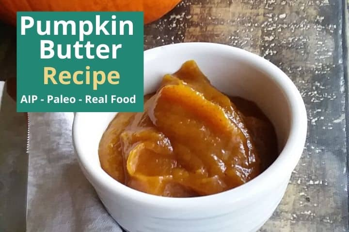 pumpkin butter in a dish