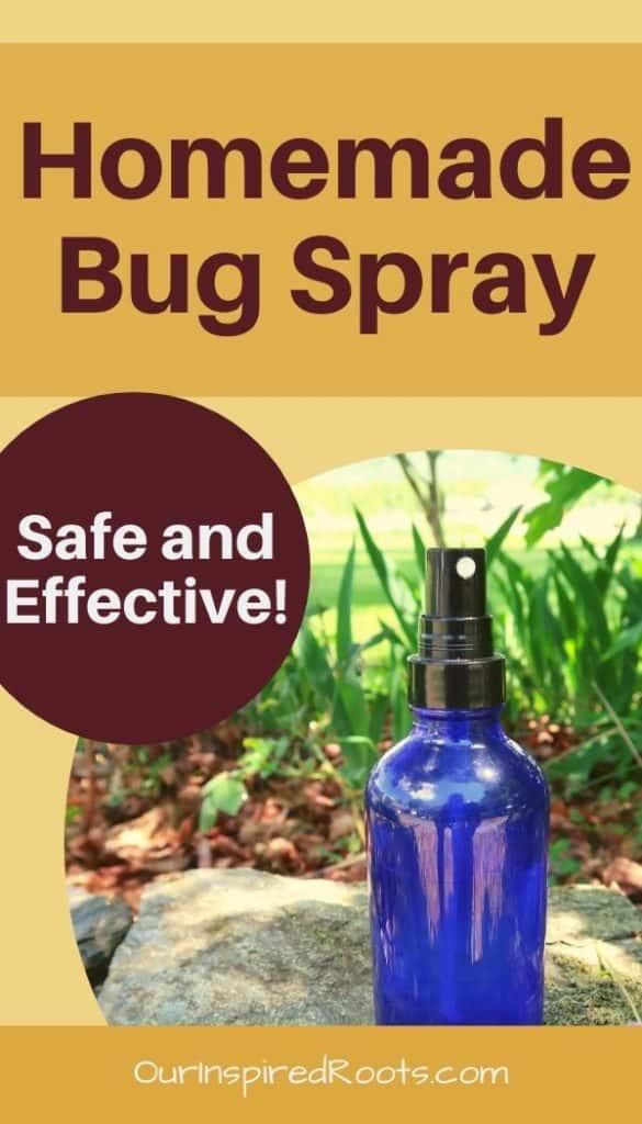 homemade bug spray in bottle