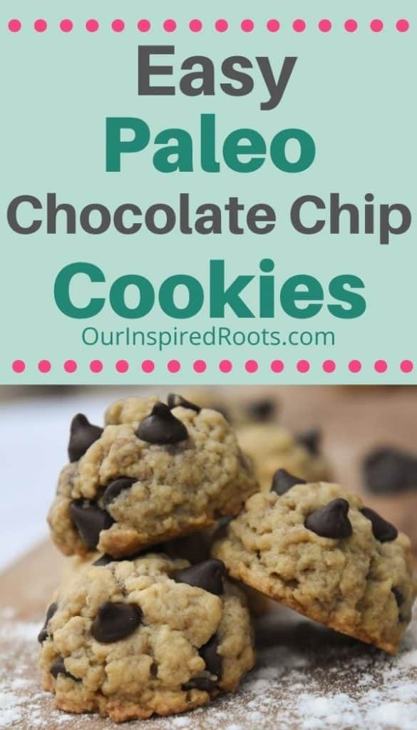 paleo chocolate chip cookies on cutting board